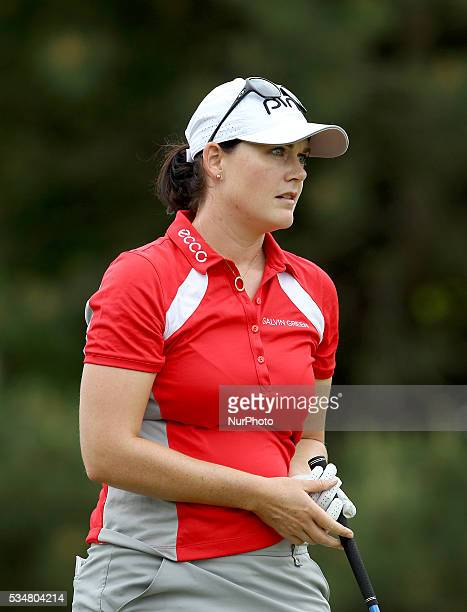 Caroline Masson of Gladbeck Germany follows he's tee shot on the first hole during the second round of the inaugural LPGA Volvik Championship at...