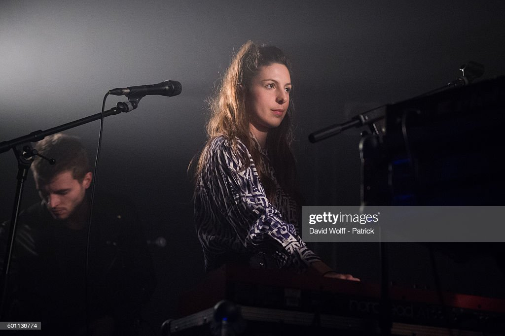 Caroline Maurin Fontana from Dead Sea opens for Jenny Lee at Le Point Ephemere on December 12, 2015 in Paris, France.