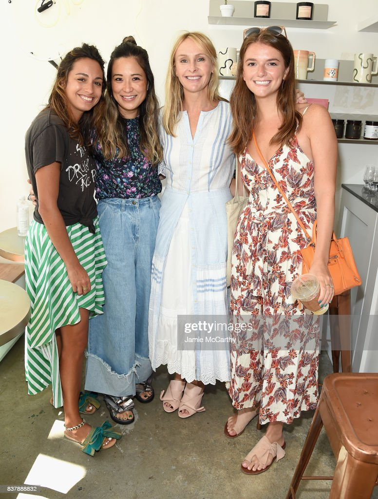 Caroline McGuire and Rebecca Taylor (C) attend the Eberjey x Rebecca Taylor Launch Event at Chillhouse on August 23, 2017 in New York City.
