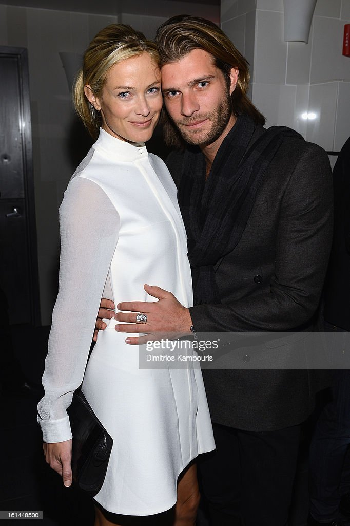 Caroline Murphy and Lincoln Pilcher attend DSquared2 and Interview Magazine's premiere screening of 'Behind The Mirror': Spring Summer 2013 Campaign at Copacabana on February 10, 2013 in New York City.