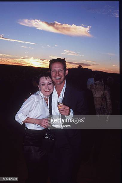 12 DECEMBER 1999 Caroline O'Connor and Todd McKenney at the Cats Run Away to the Circus gala evening in the majestic Cats Big Top in the shadows of...