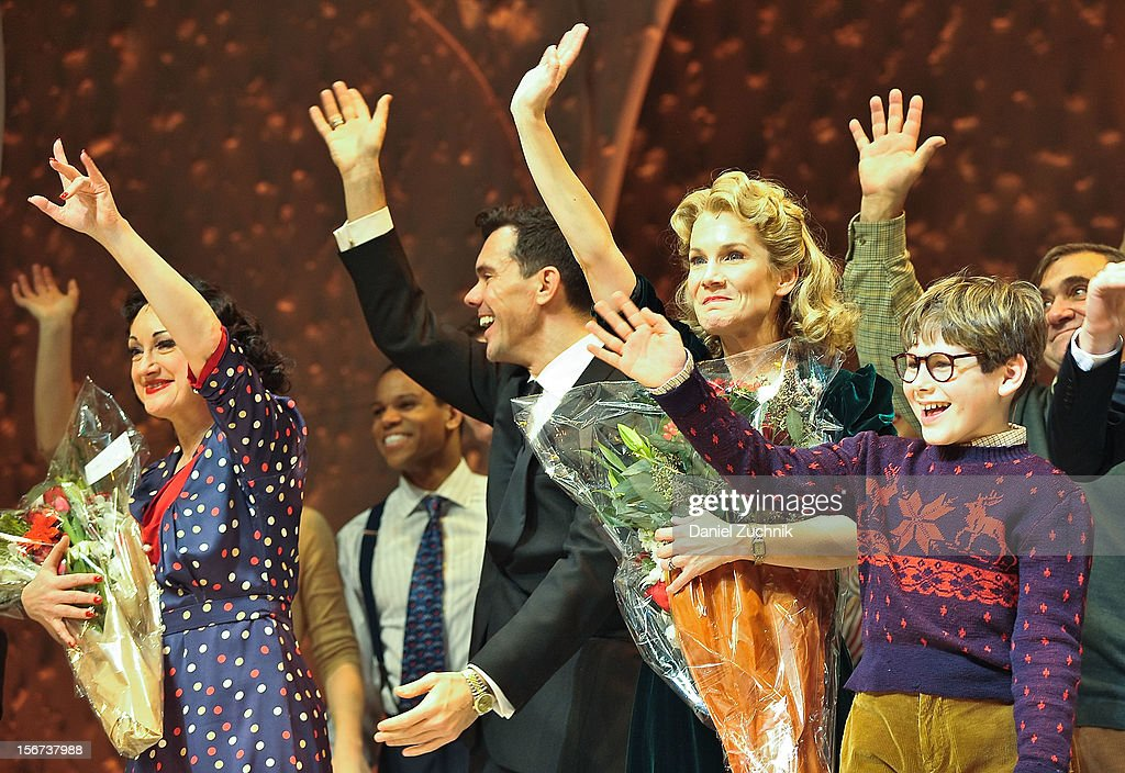 Caroline O'Connor, John Bolton, Erin Dilly, Johnny Rabe and cast perform during 'A Christmas Story: The Musical' broadway opening at Lunt-Fontanne Theatre on November 19, 2012 in New York City.
