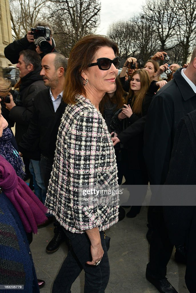 Caroline of Hanover attends the Chanel Fall/Winter 2013 Ready-to-Wear show as part of Paris Fashion Week at the Grand Palais on March 5, 2013 in Paris, France.