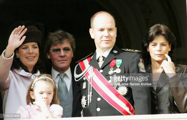 HSH Caroline of Hanover with HSH Ernst August of Hanover and their daughter Alexandra with HSH Albert of Monaco and HSH Stephanie of Monaco
