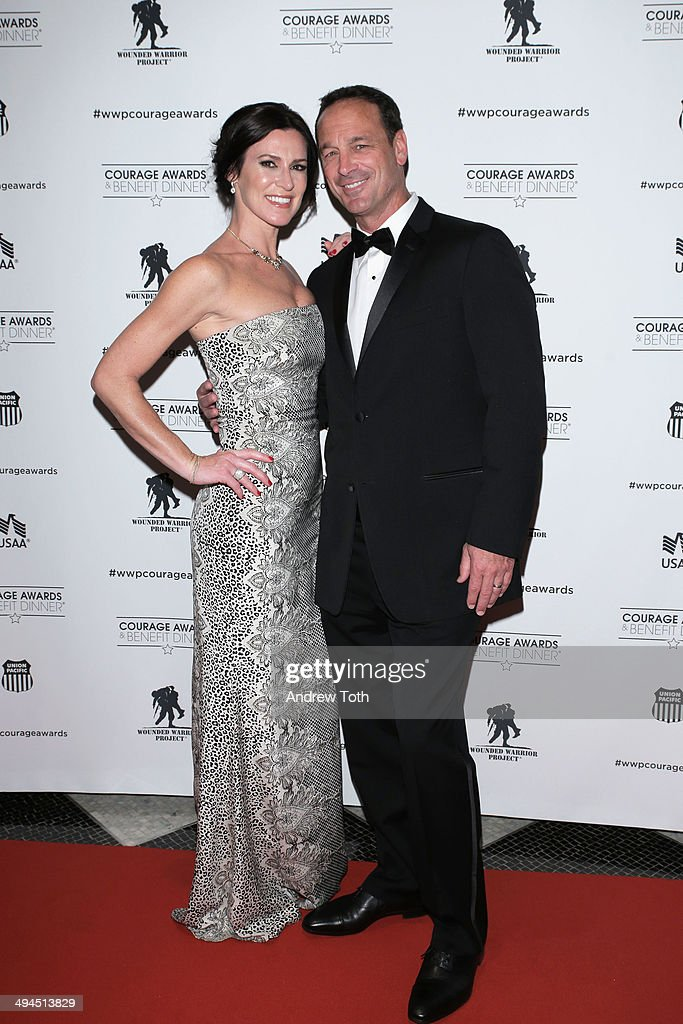 Caroline Parrish (L) and Michael Parrish attend the 9th annual Wounded Warrior Project Courage Awards & Benefit Dinner at The Waldorf=Astoria on May 29, 2014 in New York City.