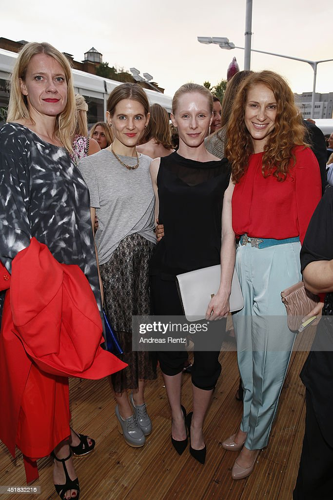 Caroline Peters, Aino Laberenz, Chiara Schoras and Susanne Wuest attend the Opening Night by Grazia fashion show during the Mercedes-Benz Fashion Week Spring/Summer 2015 at Erika Hess Eisstadion on July 7, 2014 in Berlin, Germany.