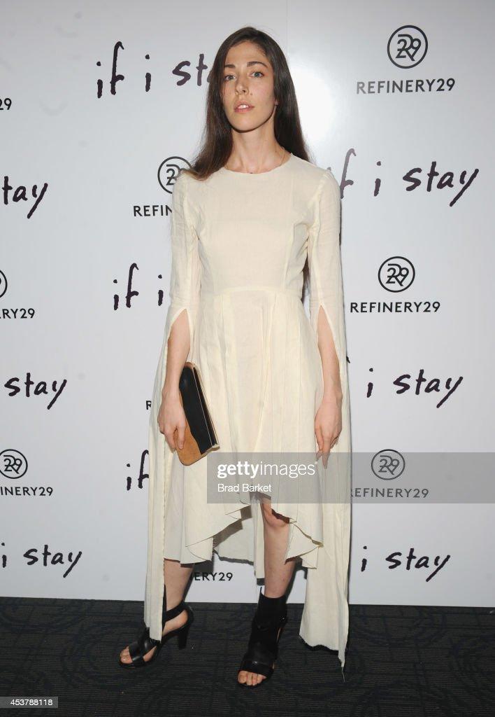 Caroline Polachek attends the 'If I Stay' New York Premiere at Landmark's Sunshine Cinema on August 18, 2014 in New York City.