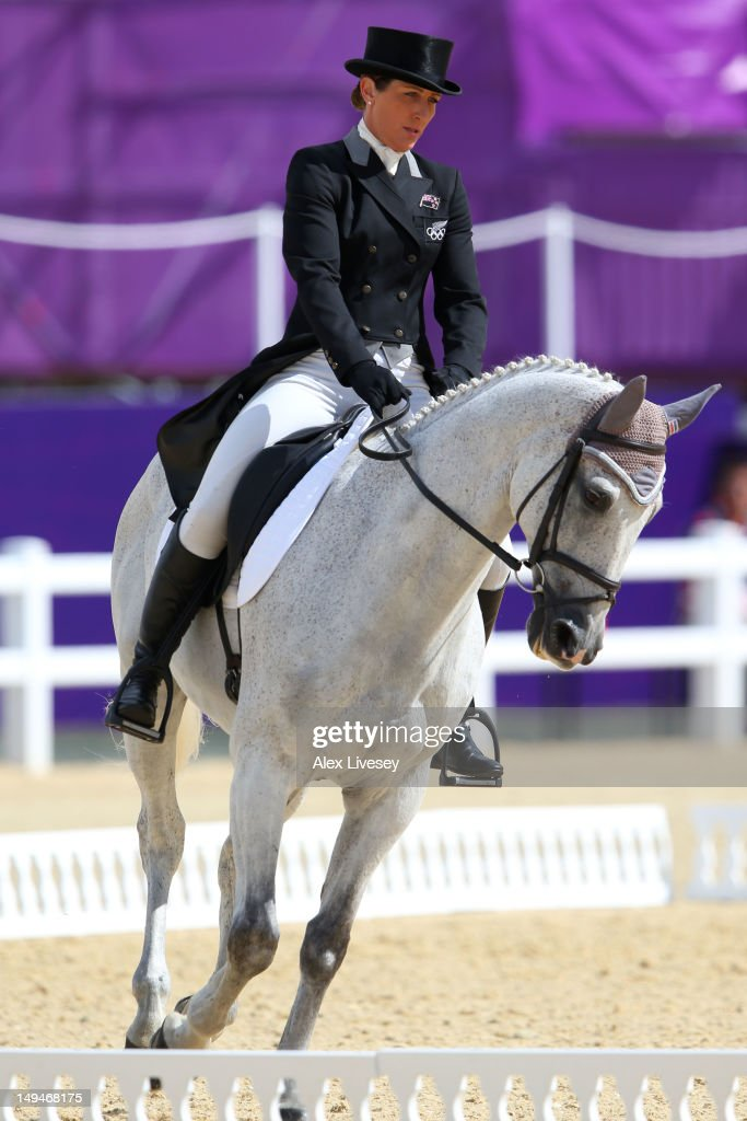 Caroline Powell of New Zealand riding Lenamore competes in the Dressage Equestrian event on Day 2 of the London 2012 Olympic Games at Greenwich Park on July 29, 2012 in London, England.