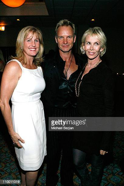 Caroline Powers Sting and Trudie Styler pose at the Thelonious Monk Institute of Jazz and the Recording Academy Los Angeles Chapter Honor Herbie...
