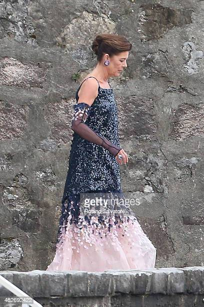 Caroline Princess of Hanover sighting during Pierre Casiraghi and Beatrice Borromeo Wedding on August 1 2015 in Isola Grande Stresa Italy