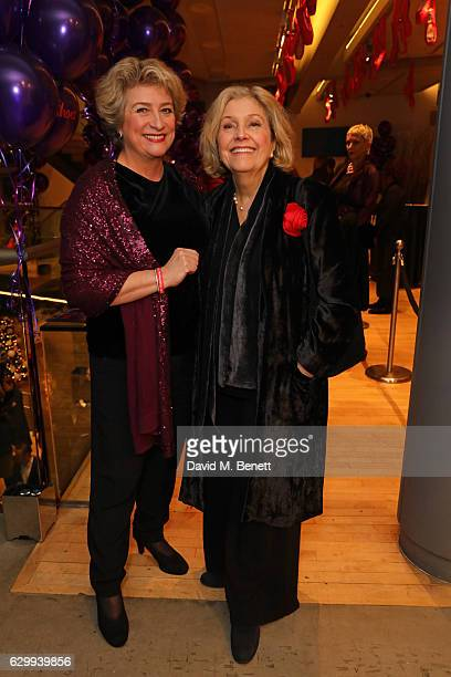 Caroline Quentin and Anne Reid attend the Gala Night performance of 'Matthew Bourne's The Red Shoes' at Sadler's Wells Theatre on December 15 2016 in...