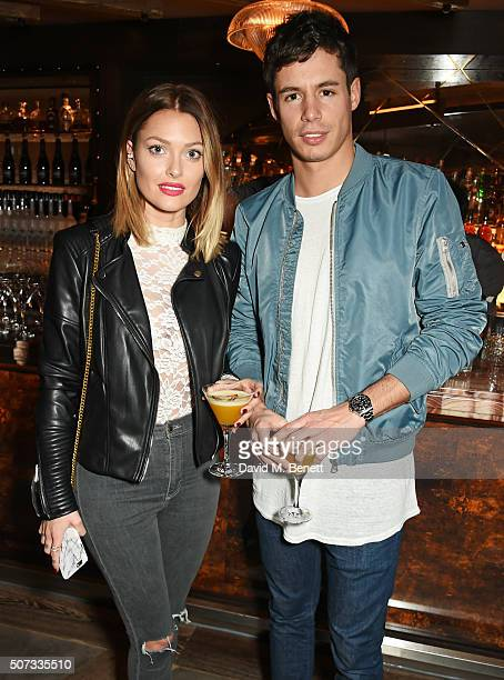Caroline Receveur and Valentin Lucas attend the launch of 100 Wardour St on January 28 2016 in London England