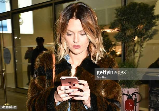 Caroline Receveur attends Caroline Receveur Launches 'la Christmas Lights at La Canopee des Halles on November 16 2016 in Paris France