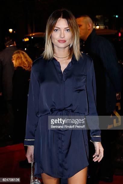 Caroline Receveur attends the 'Allied Allies' Paris Premiere at Cinema UGC Normandie on November 20 2016 in Paris France
