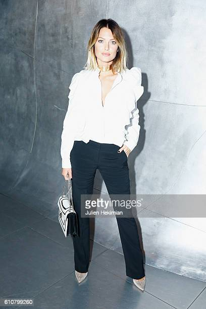 Caroline Receveur attends the Etam after Party as part of the Paris Fashion Week Womenswear Spring/Summer 2017 on September 27 2016 in Paris France