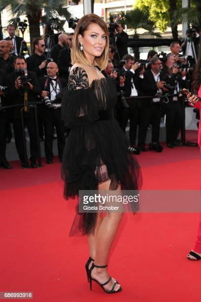 Caroline Receveur attends 'The Killing Of A Sacred Deer' premiere during the 70th annual Cannes Film Festival at Palais des Festivals on May 22 2017...