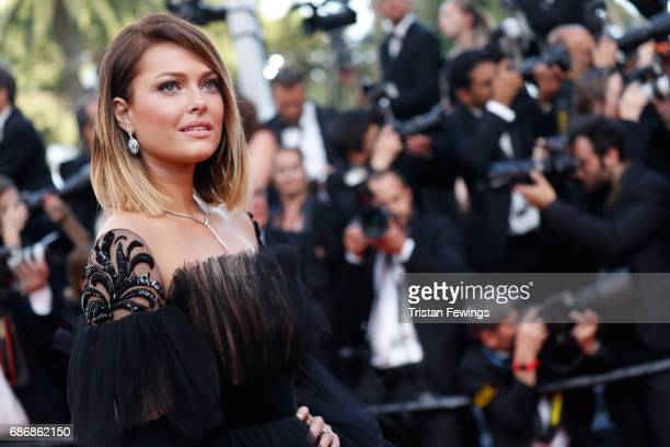 Caroline Receveur attends the 'The Killing Of A Sacred Deer' screening during the 70th annual Cannes Film Festival at Palais des Festivals on May 22...