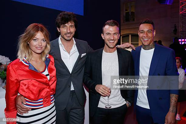 Caroline Receveur Model Andres Velencoso Segura guest and Football player Gregory van der Wiel attend Tommy Hilfiger Hosts Tommy X Nadal Party...