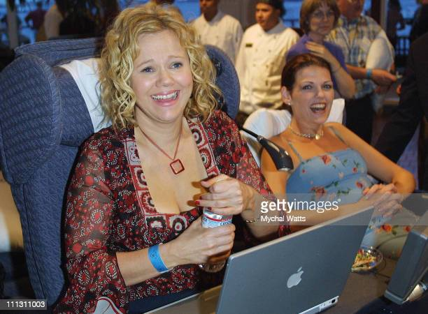 Caroline Rhea and Kate Shindle during Elizabeth Glaser Pediatric Aids Foundation Benefit at South Street Seaport in New York City New York United...