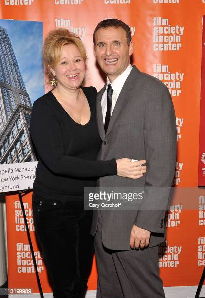 Caroline Rhea and Phil Rosenthal attend the New York premiere screening of 'Exporting Raymond' a film by Phil Rosenthal at The Film Society of...