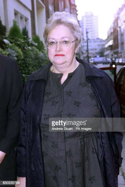 Caroline Richmond arriving at a General Medical Council hearing in central London where gynaecologist Ian Fergusson is accused of removing her womb...