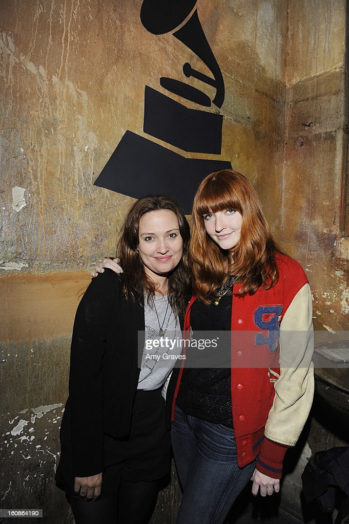 Caroline Rothwell and Katy Goodman attend the GRAMMY Label Launch Party at Harvard And Stone on February 6, 2013 in Hollywood, California.