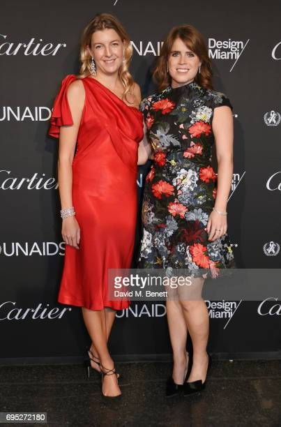 Caroline Rupert and Princess Eugenie of York attend the UNAIDS Gala during Design Miami / Basel 2017 on June 12 2017 in Basel Switzerland