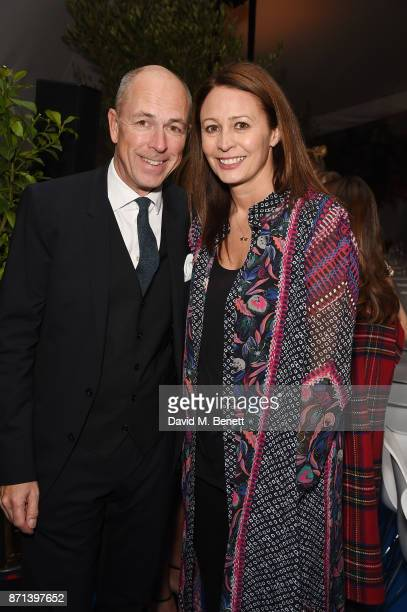 Caroline Rush and Dylan Jones attend a dinner hosted by Jonathan Newhouse and Albert Read for Edward Enninful to celebrate the December issue of...