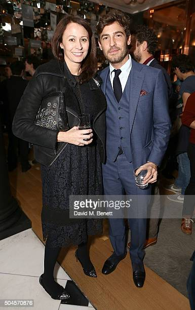 Caroline Rush and Robert Konjic attend a reception hosted by Marks Spencer and ShortList Magazine to celebrate London Collections Men AW16 at...
