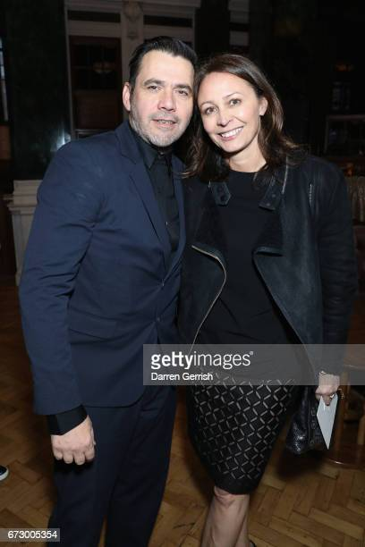 Caroline Rush and Roland Mouret attend Roland Mouret's The Dinner of Love at Cecconi's a preopening dinner at The Ned on April 25 2017 in London...