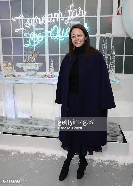 Caroline Rush attends the Sophia Webster AW17 Presentation on February 20 2017 in London United Kingdom