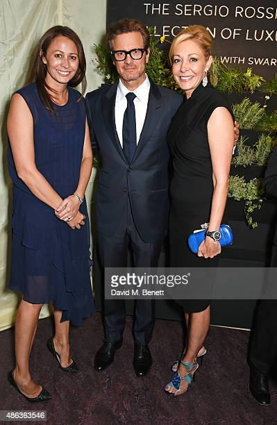 Caroline Rush Colin Firth and Nadja Swarovski attend the launch of the Sergio Rossi Green Carpet Collection of Luxury Accessories at Wellington Arch...