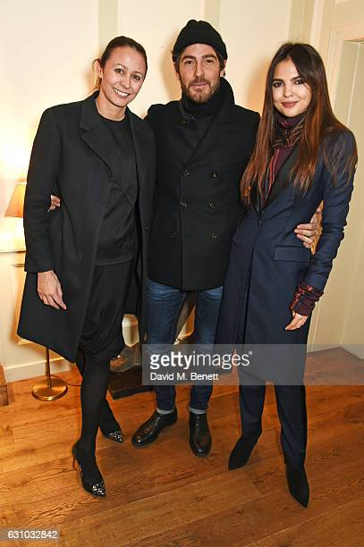 Caroline Rush Robert Konjic and Doina Ciobanu attend a dinner hosted by Dame Vivienne Westwood and The British Fashion Council to celebrate London...