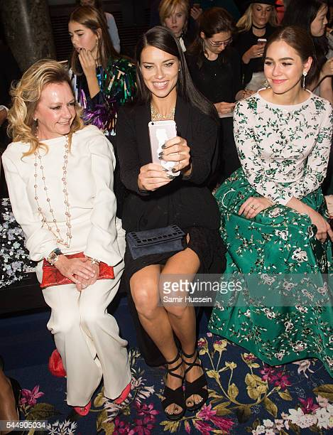 Caroline Scheufele Adriana Lima and Champoo Araya A Hargateattend the Ralph Russo Haute Couture Fall/Winter 20162017 show as part of Paris Fashion...