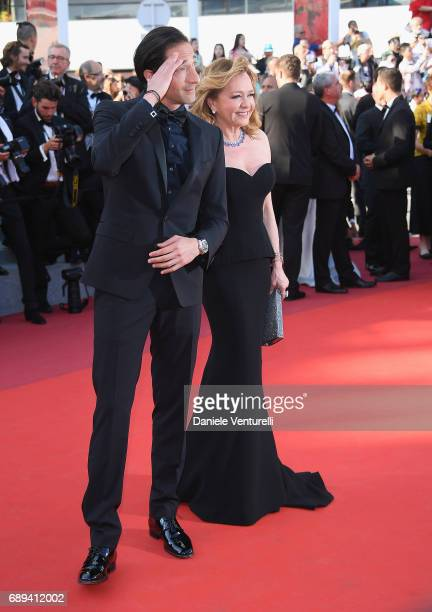 Caroline Scheufele and Adrien Brody attend the Closing Ceremony of the 70th annual Cannes Film Festival at Palais des Festivals on May 28 2017 in...