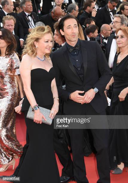 Caroline Scheufele and Adrien Brody attend the Closing Ceremony during the 70th annual Cannes Film Festival at Palais des Festivals on May 28 2017 in...