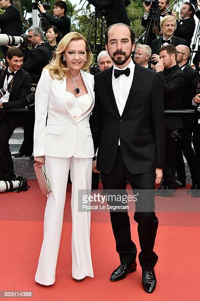 Caroline Scheufele and Alexis Weller attends the closing ceremony of the 69th annual Cannes Film Festival at the Palais des Festivals on May 22 2016...