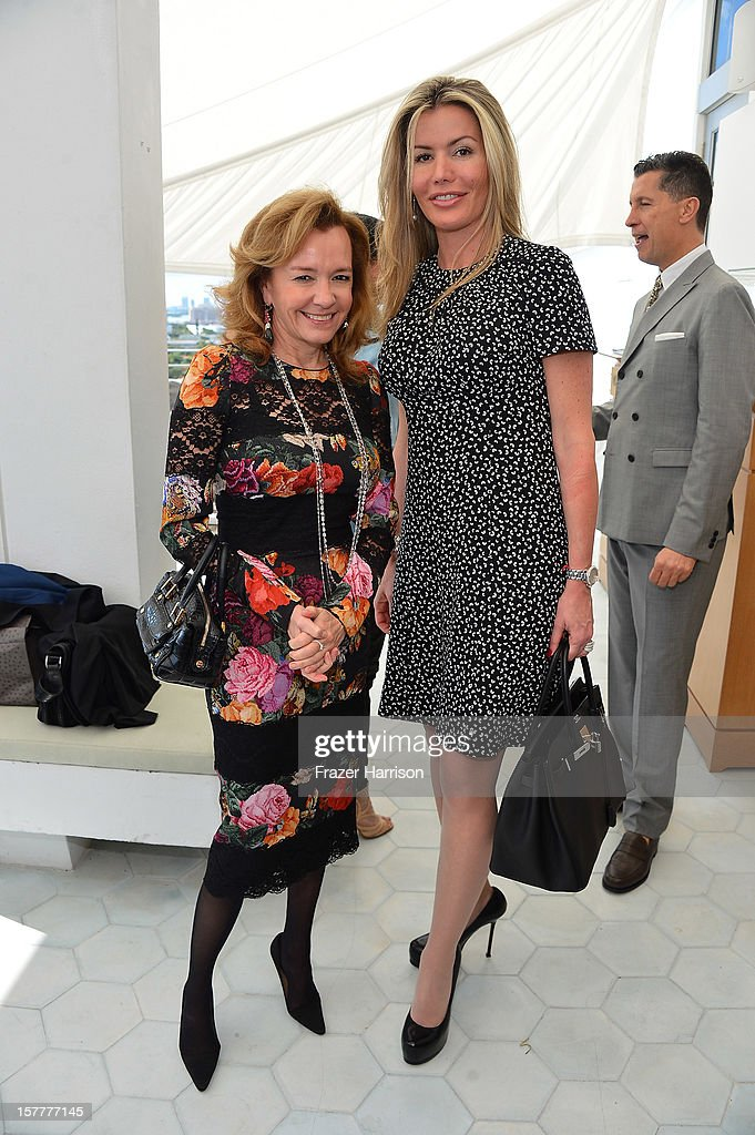 Caroline Scheufele and Carmen Raquel Bernal attend the Chopard and W Magazine 'Marilyn Forever' exhibition at Soho Beach House on December 6, 2012 during Art Basel Miami in Miami Beach, Florida.
