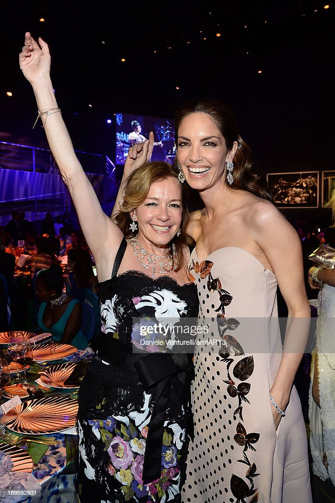 Caroline Scheufele and Eugenia Silva attends amfAR's 20th Annual Cinema Against AIDS during The 66th Annual Cannes Film Festival at Hotel du Cap-Eden-Roc on May 23, 2013 in Cap d'Antibes, France.