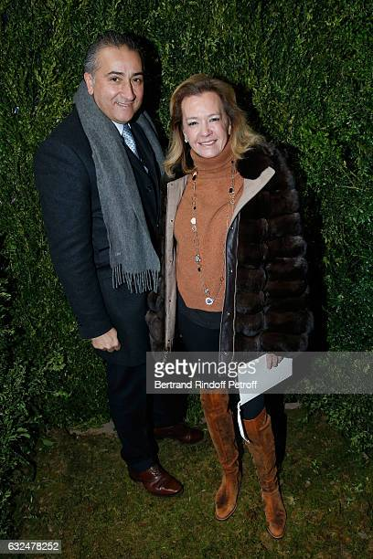 Caroline Scheufele and guest attend the Christian Dior Haute Couture Spring Summer 2017 show as part of Paris Fashion Week on January 23 2017 in...