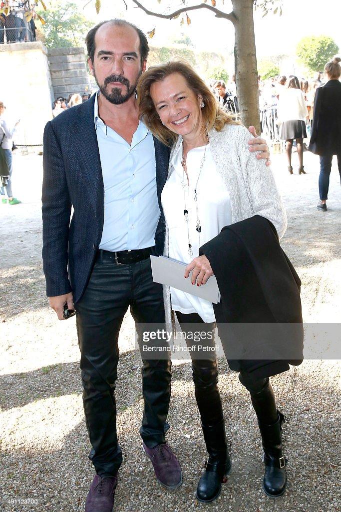 Caroline Scheufele and her companion Director Alexis Veller attend the Elie Saab show as part of the Paris Fashion Week Womenswear Spring/Summer 2016...