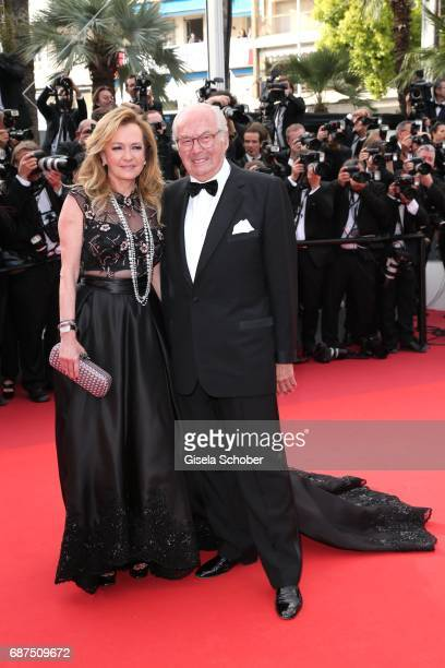 Caroline Scheufele and her father KarlFriedrich Scheufele attend the 70th Anniversary of the 70th annual Cannes Film Festival at Palais des Festivals...