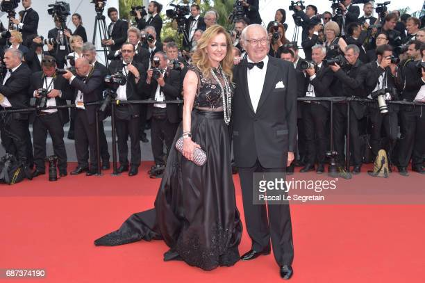 Caroline Scheufele and KarlFriedrich Scheufele attend the 70th Anniversary of the 70th annual Cannes Film Festival at Palais des Festivals on May 23...