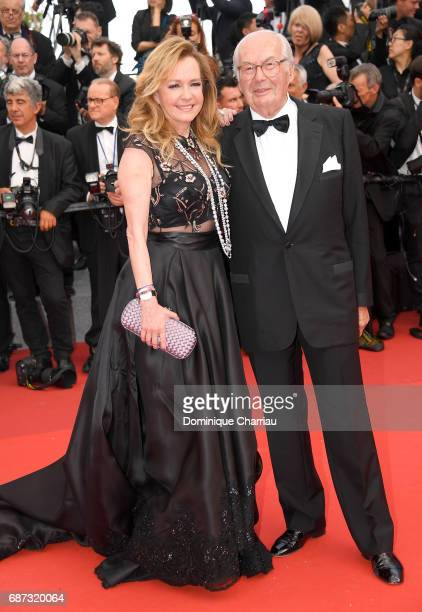 Caroline Scheufele and KarlFriedrich Scheufele attend the 70th Anniversary screening during the 70th annual Cannes Film Festival at Palais des...