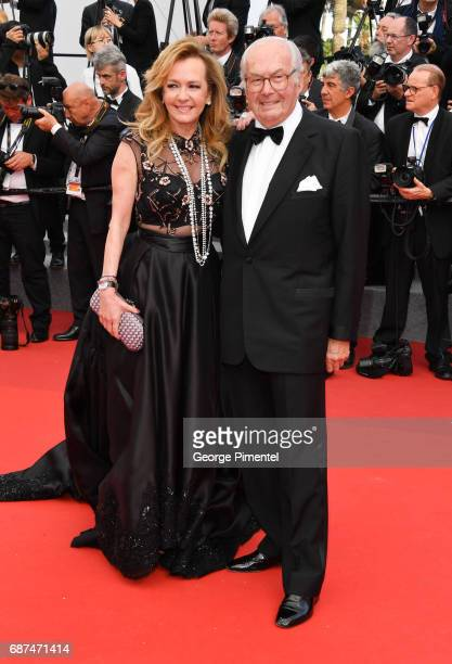 Caroline Scheufele and guest attend the 70th Anniversary screening during the 70th annual Cannes Film Festival at Palais des Festivals on May 23 2017...