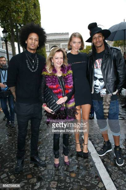 Caroline Scheufele Arizona Muse Laurent Bourgeois and Larry Bourgeois attend 'Le Defile L'Oreal Paris show' as part of the Paris Fashion Week...
