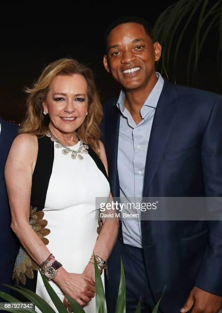 Caroline Scheufele Artistic Director and CoPresident of Chopard and Will Smith attend the Chopard and Annabel's Gentleman's Evening at the Hotel...