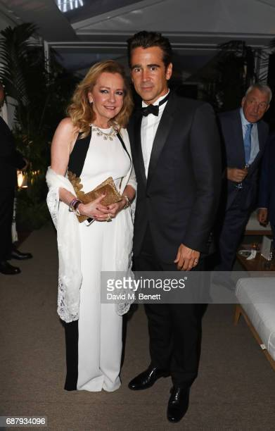 Caroline Scheufele Artistic Director and CoPresident of Chopard and Colin Farrell attend the Chopard and Annabel's Gentleman's Evening at the Hotel...