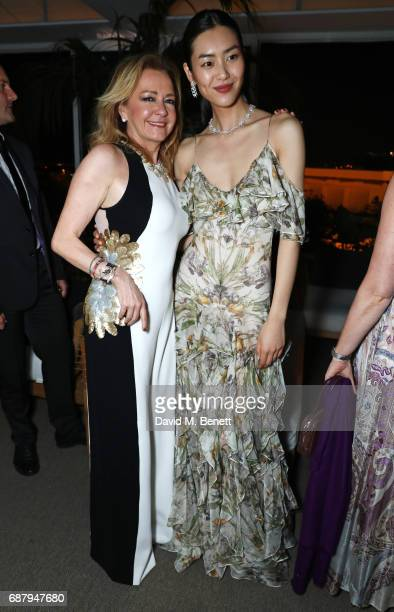 Caroline Scheufele Artistic Director and CoPresident of Chopard and Liu Wen attend the Chopard and Annabel's Gentleman's Evening at the Hotel...