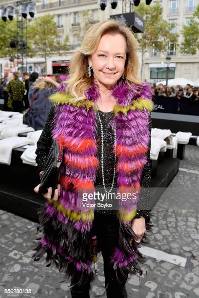 Caroline Scheufele attends Le Defile L'Oreal Paris as part of Paris Fashion Week Womenswear Spring/Summer 2018 at Avenue Des Champs Elysees on...